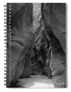 Black And White Buckskin Gulch Spiral Notebook