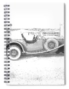 Black And White Car Spiral Notebook