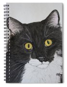 Black And White Cat Spiral Notebook