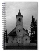 Black And White Church In Williston North Dakota. Spiral Notebook