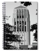 Black And White Clock Tower Spiral Notebook