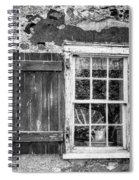 Black And White Cottage Window Spiral Notebook