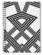 Black And White Diamond Spiral Notebook