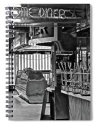 Black And White Diner Spiral Notebook