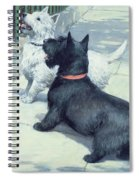 Black And White Dogs Spiral Notebook