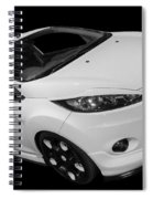 Black And White Ford Fiesta Spiral Notebook