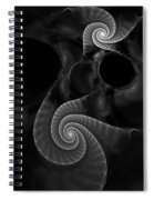 Black And White Fractal 080810 Spiral Notebook