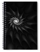 Black And White Fractal 080810c Spiral Notebook