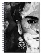 Black And White Frida Kahlo By Sharon Cummings Spiral Notebook