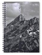 Black And White Grand Teton Detail Spiral Notebook