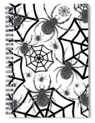 Black And White Halloween Spiral Notebook