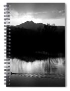 Black And White Lake Sunset Spiral Notebook