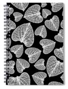 Black And White Leaf Abstract Spiral Notebook