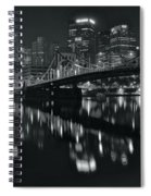 Black And White Lights Spiral Notebook