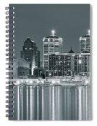 Black And White Louisville Spiral Notebook