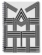 Black And White M Spiral Notebook