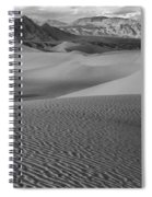 Black And White Mesquite Sand Dunes Spiral Notebook