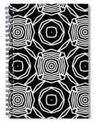 Black And White Modern Roses- Pattern Art By Linda Woods Spiral Notebook