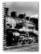 Black And White Of An Old Steam Engine  Spiral Notebook