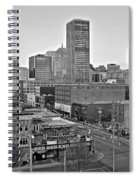 Black And White Okc  Spiral Notebook