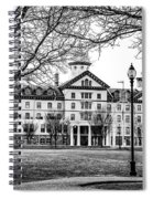 Black And White - Old Main - Widener University Spiral Notebook