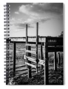 Black And White Old Time Dock Spiral Notebook