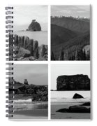 Black And White Olympic National Park Collage Spiral Notebook