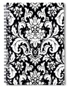 Black And White Paisley Pattern Vintage Spiral Notebook