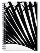Black And White Palm Branch Spiral Notebook