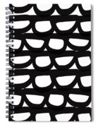 Black And White Pebbles- Art By Linda Woods Spiral Notebook