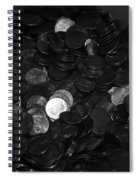 Black And White Pennies Spiral Notebook