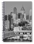 Black And White Philadelphia - Delaware River Spiral Notebook