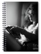 Black And White Portrait Of A Sexy Woman In Large Reading Glasse Spiral Notebook