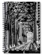 Black And White Railroad Spiral Notebook
