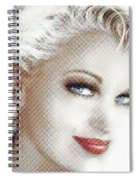 Black And White Red Lips Spiral Notebook