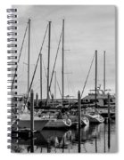 Black And White Reflections Spiral Notebook