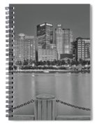 Black And White Riverfront 2017 Spiral Notebook