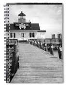 Black And White  Roanoke Lighthouse Spiral Notebook