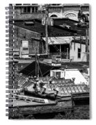 Black And White Rooftops Spiral Notebook