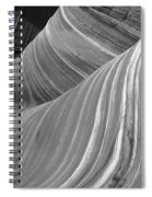 Black And White Sandstone Waves Spiral Notebook
