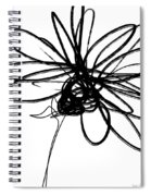 Black And White Sketch Flower 4- Art By Linda Woods Spiral Notebook