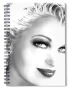 Black And White Smile Spiral Notebook