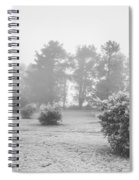 Black And White Snow Landscape Spiral Notebook