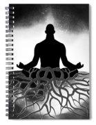 Black And White Spiritual Grounding Spiral Notebook