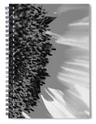 Black And White Sunflower Spiral Notebook