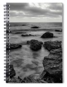 Black And White Sunset At Low Tide Spiral Notebook