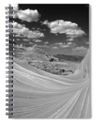 Black And White Swirling Landscape Spiral Notebook