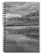 Black And White Talbot Lake Sunset Spiral Notebook