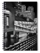Black And White Tea Party Spiral Notebook