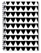 Black And White Triangles- Art By Linda Woods Spiral Notebook